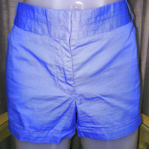 J Crew Chino Broken In Blue Cotton Shorts Size 8